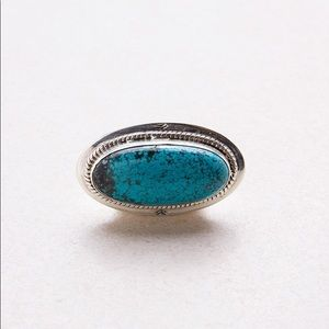SPELL GYPSY COLLECTIVE  SILVER TURQUOISE RING